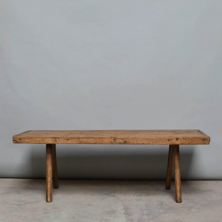 Vintage Industrial Space Age Coffee Table For Sale At Pamono: Vintage Oak Butcher's Block Coffee Table/Bench, 1930s At