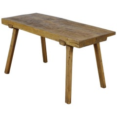 Vintage Oak Butcher's Block Table/Farm Table, 1930s