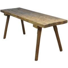 Vintage Oak Butcher's Block Table/Farm Table, 1930s