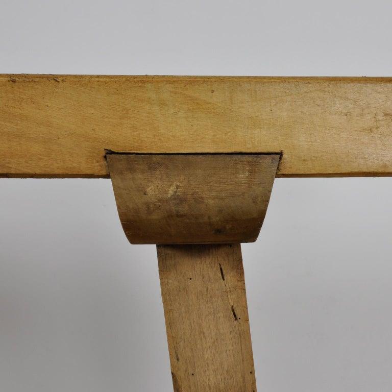 Mid-20th Century Vintage Oak Butcher's Block Table or Farm Table, 1930s For Sale