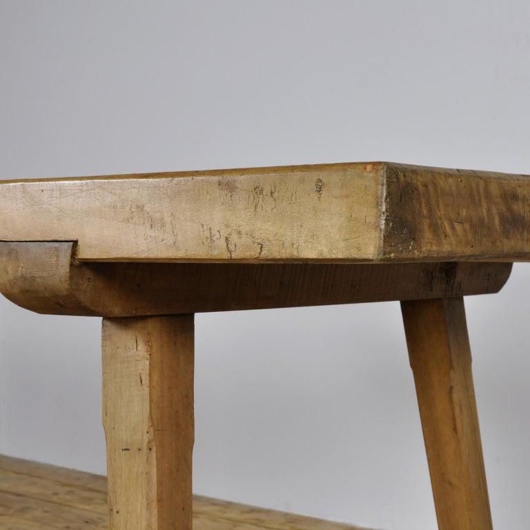 Vintage Oak Butcher's Block Table or Farm Table, 1930s For Sale 3