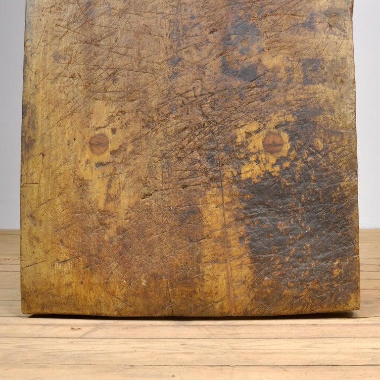 Vintage Oak Butcher's Table/Farmtable, 1920s For Sale 8