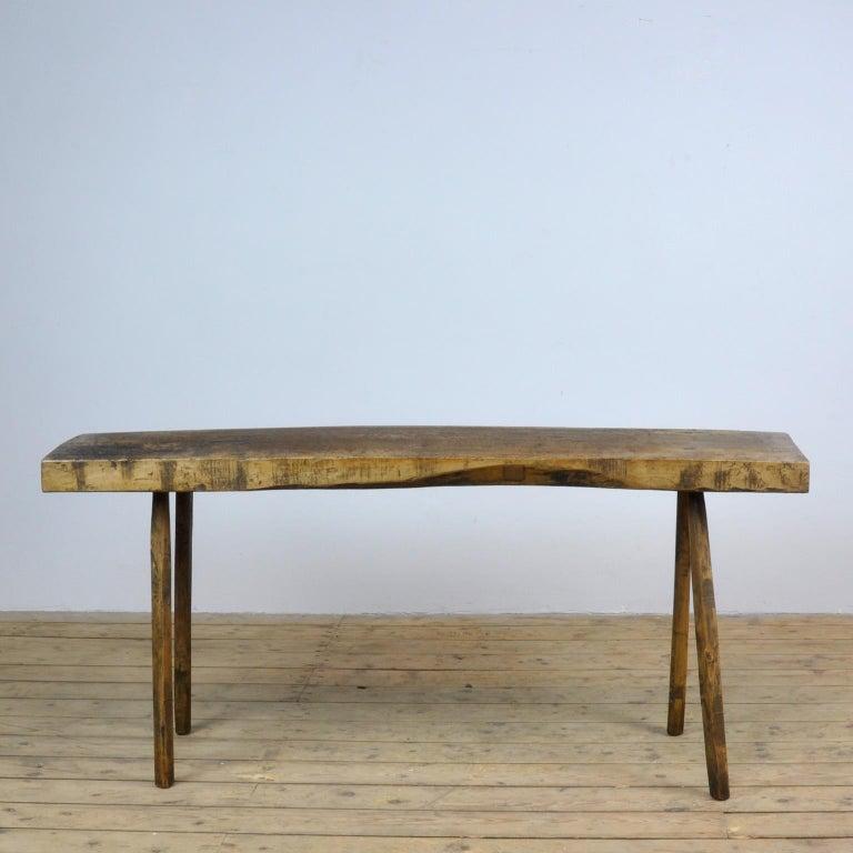 Industrial Vintage Oak Butcher's Table/Farmtable, 1920s For Sale