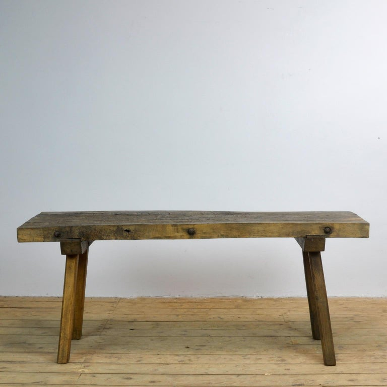 Vintage Oak Butcher's Table/Farmtable, 1930s For Sale 5