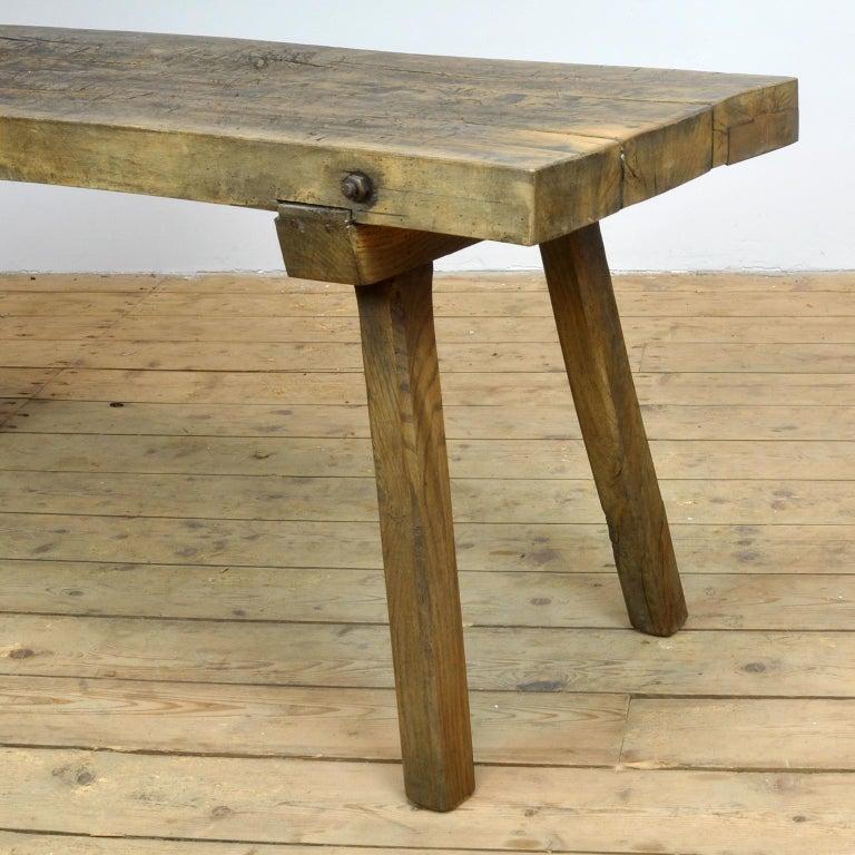 Vintage Oak Butcher's Table/Farmtable, 1930s For Sale 8