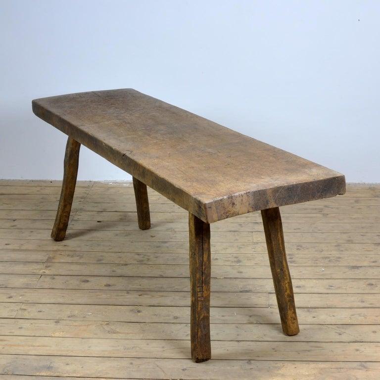 Industrial Vintage Oak Butcher's Table or Farm Table, 1930s
