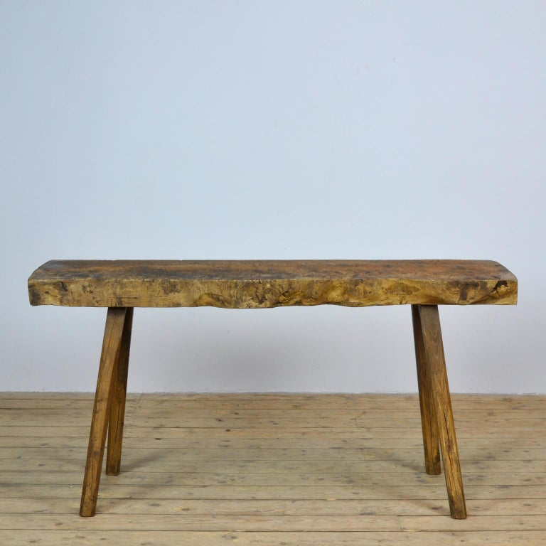 Rustic Vintage Oak Butcher's Table or Farmtable, 1930s For Sale