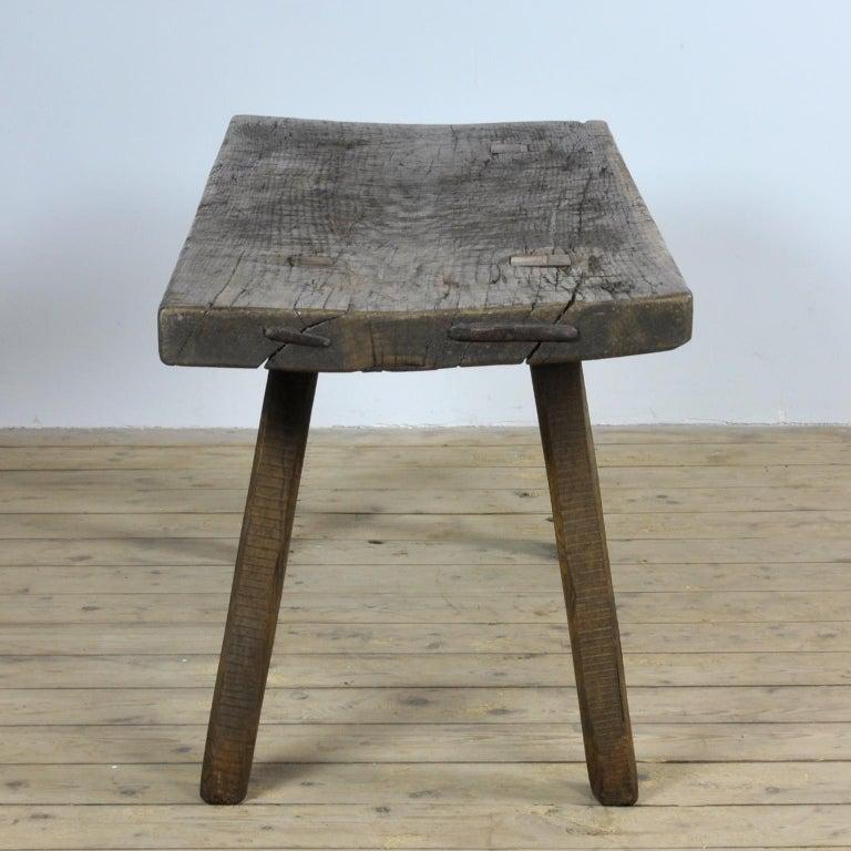 Industrial Vintage Oak Butcher's Table/Farmtable, 1930s For Sale