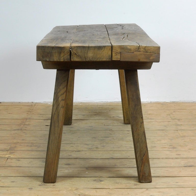 Hungarian Vintage Oak Butcher's Table/Farmtable, 1930s For Sale