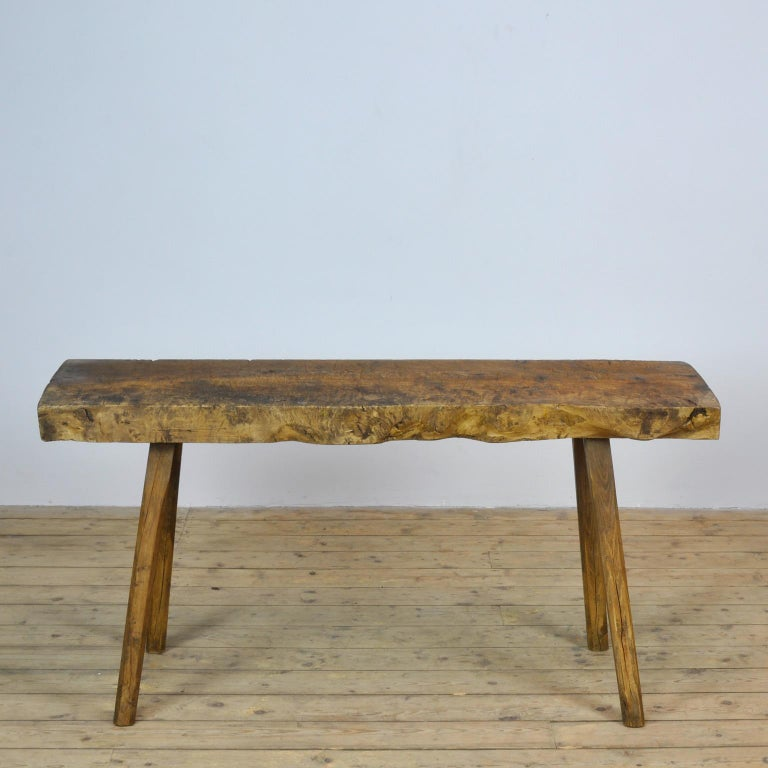 Hungarian Vintage Oak Butcher's Table or Farmtable, 1930s For Sale