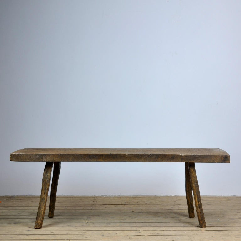 Vintage Oak Butcher's Table or Farm Table, 1930s In Good Condition In Amsterdam, Noord Holland