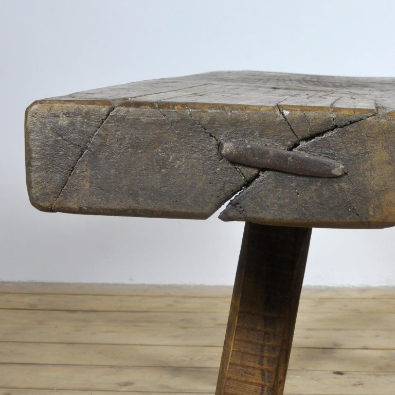 Vintage Oak Butcher's Table/Farmtable, 1930s In Good Condition For Sale In Amsterdam, Noord Holland