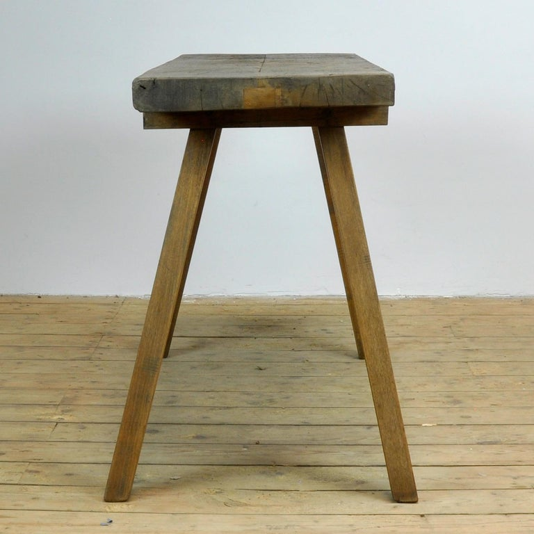 Vintage Oak Butcher's Table or Farm Table, 1930s For Sale 1