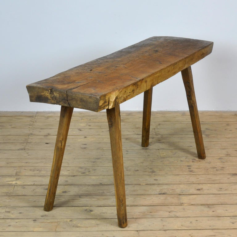 Vintage Oak Butcher's Table or Farmtable, 1930s For Sale 2