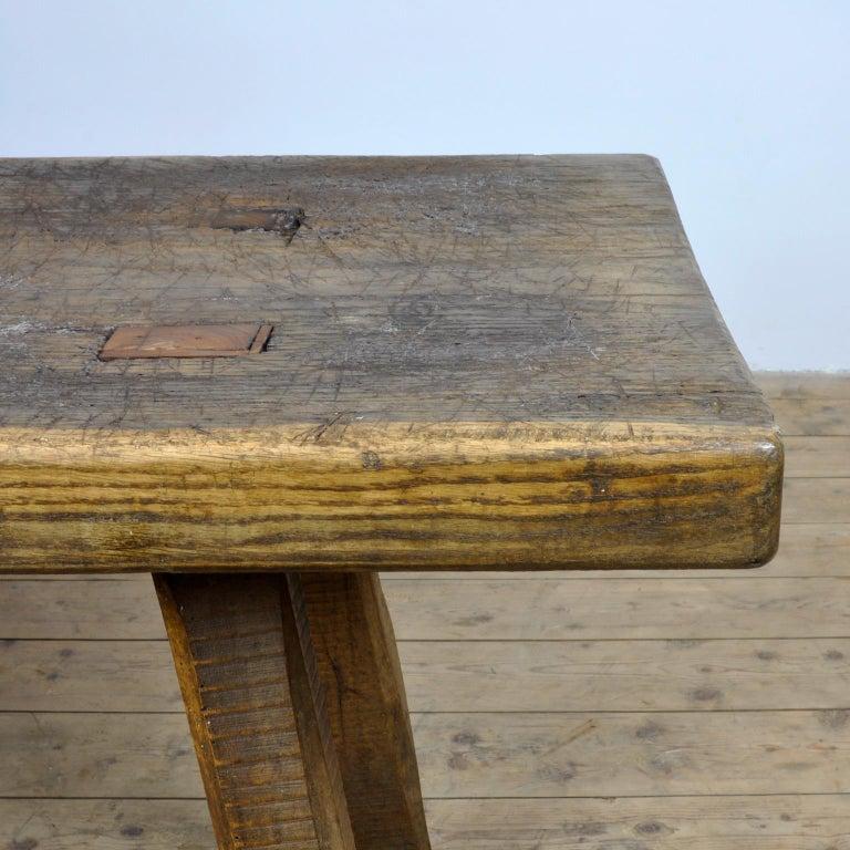 Vintage Oak Butcher's Table/Farmtable, 1930s For Sale 3