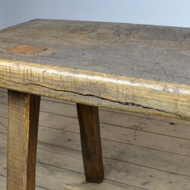 Vintage Oak Butcher's Table/Farmtable, 1930s For Sale 4