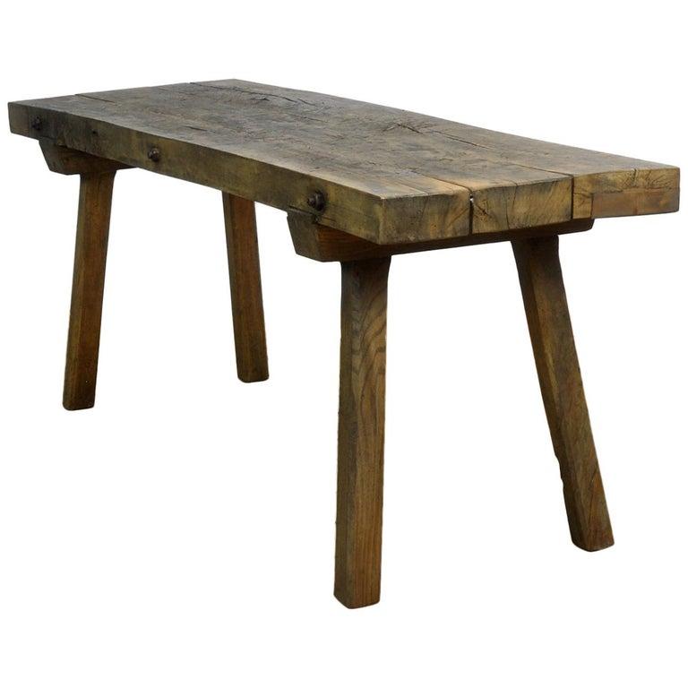 Vintage Oak Butcher's Table/Farmtable, 1930s For Sale