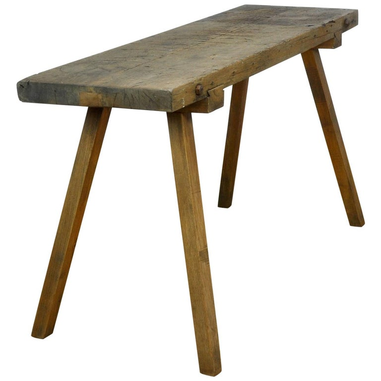 Vintage Oak Butcher's Table or Farm Table, 1930s For Sale