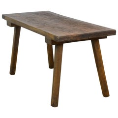 Vintage Oak Butcher's Table or Farm Table, 1930s