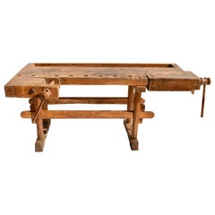 Vintage Oak Carpenters' and Joiners' Workbench