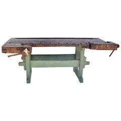 Vintage Oak Carpenter's and Joiner's Workbench