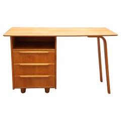 Vintage Oak Desk designed by Cees Braakman for UMS Pastoe, 1950s