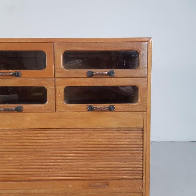 Vintage Oak Early 20th Century 6-Drawer Haberdashery Cabinet, 1930s 1