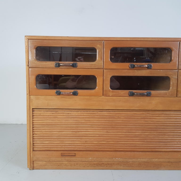 Vintage Oak Early 20th Century 6-Drawer Haberdashery Cabinet, 1930s 2