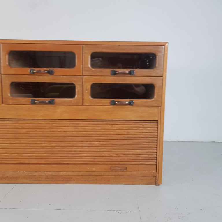 Vintage Oak Early 20th Century 6-Drawer Haberdashery Cabinet, 1930s 3