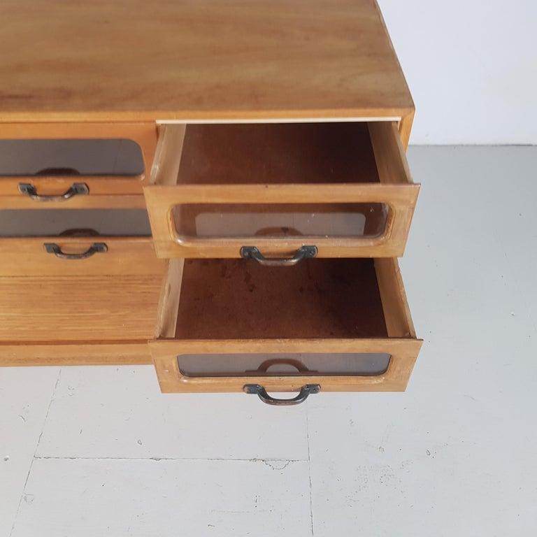 Vintage Oak Early 20th Century 6-Drawer Haberdashery Cabinet, 1930s 5