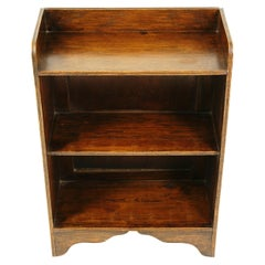 Vintage Oak Open Bookcase, Display Cabinet, Scotland 1930, B2548