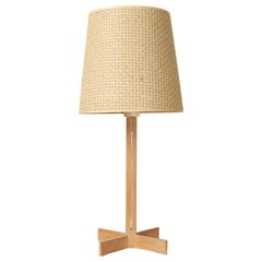 Vintage Oak Table Lamp by Hans Agne Jakobsson for Markaryd, 1960s