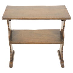 Vintage Oak Table, Two Tiered Bookstand, Antique Furniture, Scotland 1930, B1479