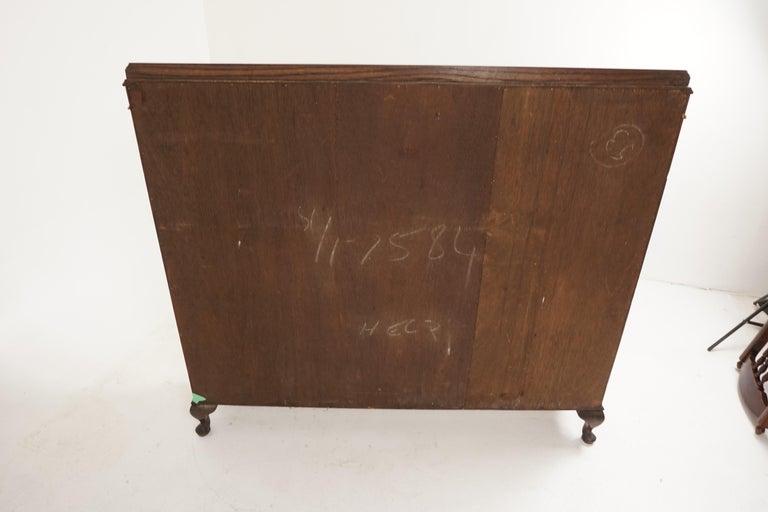 Vintage Oak Three-Door Bookcase, Display Cabinet, Scotland 1930, B2236 2