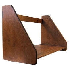 Vintage Oak Wall Shelf by Hans J. Wegner for FDB, 1950s