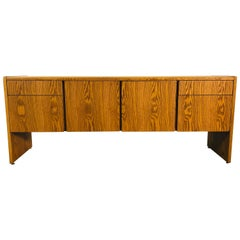 Vintage Oakwood Office Credenza