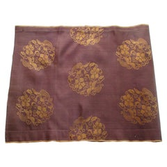 Vintage Obi Brown and Gold Silk Textile