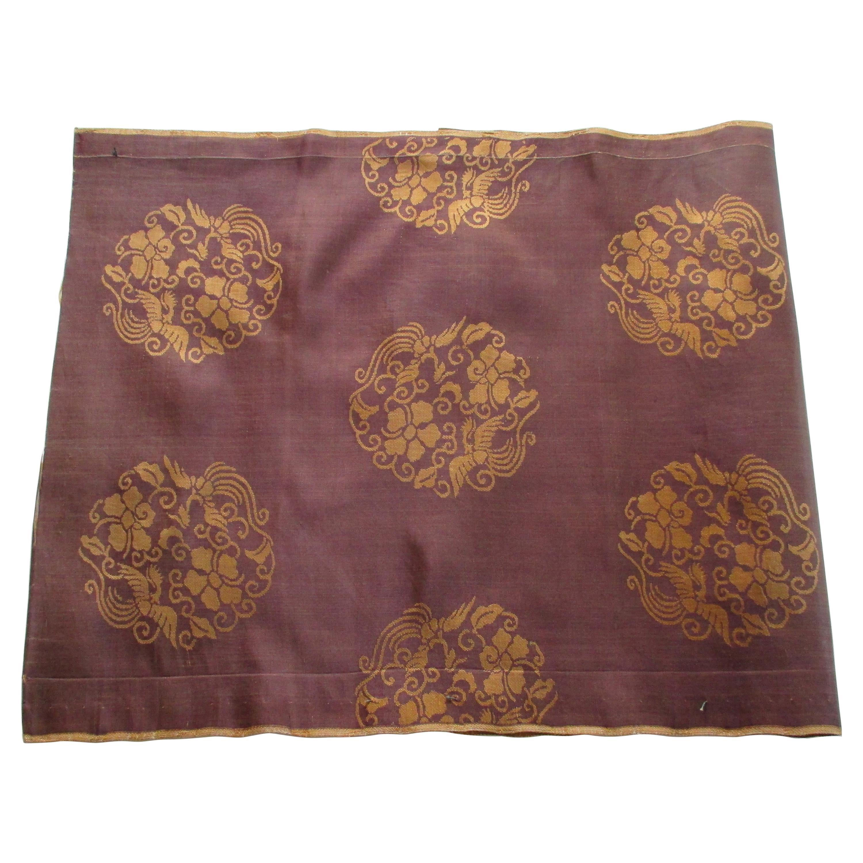 Vintage Obi Brown and Gold Silk Textile