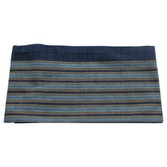Vintage Obi Textile Blue with Yellow Stripes