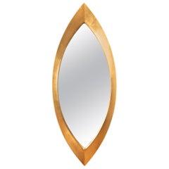 Vintage Oblong Mirror in Gold Leaf After Hans-Agne Jakobsson