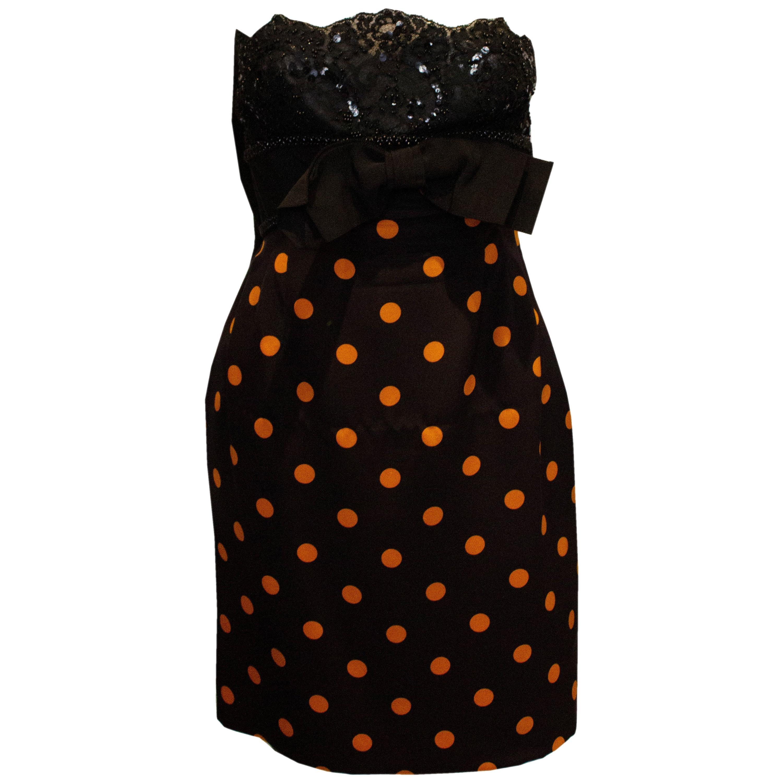 Vintage Odicini  Couture Cocktail Dress