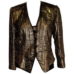 Vintage  Odicini Couture Silver Jacket