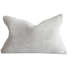 Vintage Off-White Turkish Hemp Rug Pillow
