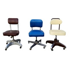 Vintage Office Chairs Set of Three