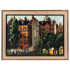 "Vintage Oil Painting by Artist Jurgen Draeger ""Berlin"""