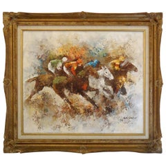 Vintage Oil Painting of Horses