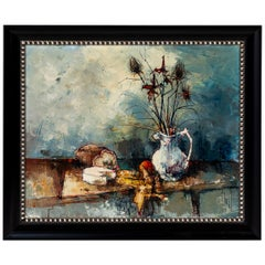 Vintage Oil Painting of Still Life, Signed by Artist, Aldo, 1964