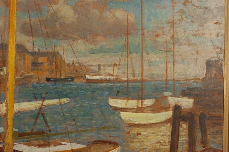 Vintage Oil Painting, Poole Harbour by Arthur Tivoli For Sale 1