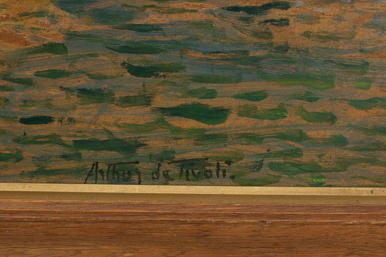 Vintage Oil Painting, Poole Harbour by Arthur Tivoli For Sale 2