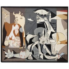 """Vintage Oil Painting """"Remnants of Guernica"""" by Donna, circa 1970s"""